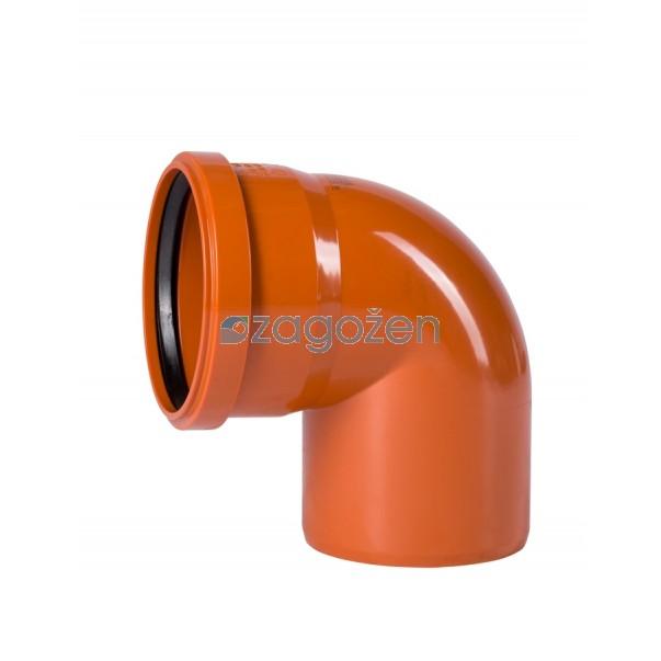 PVC KOLENO 125/90 UK